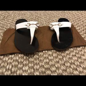Horsebit thong sandal